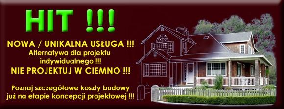 Projekty indywidualne domów jednorodzinnych.